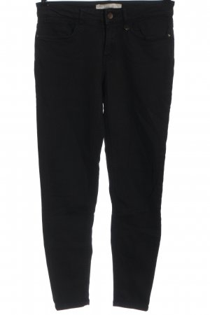Zara Basic Slim Jeans schwarz Casual-Look