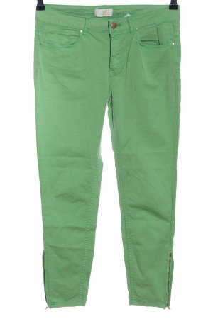 Zara Basic Slim Jeans grün Casual-Look