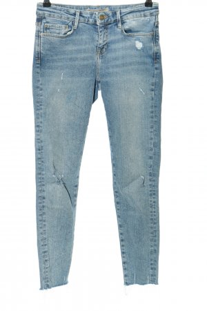 Zara Basic Slim Jeans blue casual look