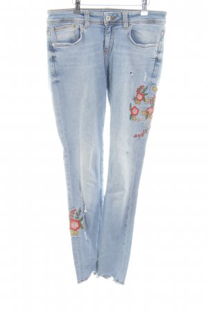 Zara Basic Slim Jeans Blumenmuster Casual-Look