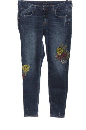 Zara Basic Slim Jeans blau Casual-Look