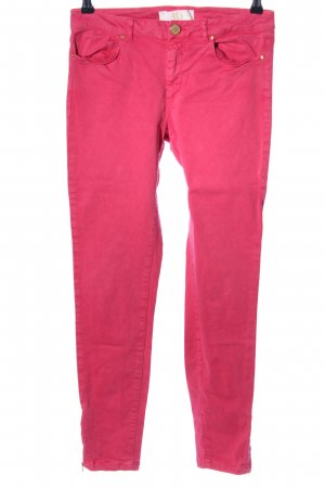 Zara Basic Slim Jeans rot Casual-Look