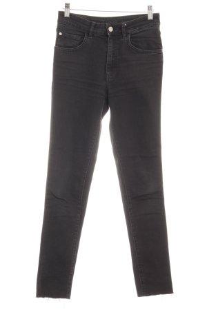 Zara Basic Slim Jeans taupe Used-Optik