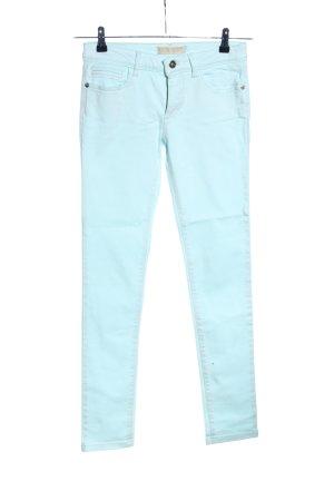 Zara Basic Slim Jeans türkis Casual-Look