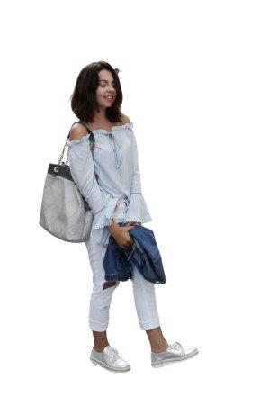 Zara Basic Slim Jeans weiß Party-Look