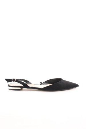 Zara Basic Slingback Ballerinas schwarz Business-Look