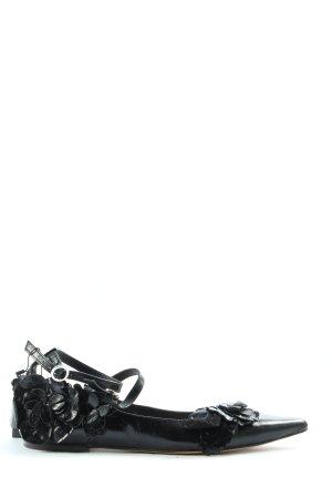 Zara Basic Slingback Ballerinas schwarz Casual-Look