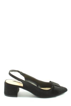 Zara Basic Slingback-Pumps schwarz Casual-Look