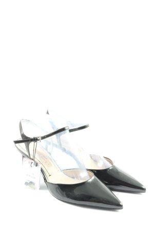Zara Basic Slingback-Pumps schwarz Elegant