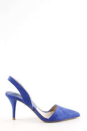 Zara Basic Slingback-Pumps blau Business-Look