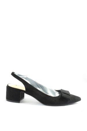 Zara Basic Slingback pumps zwart zakelijke stijl