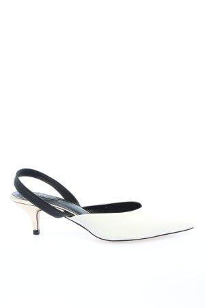Zara Basic Décolleté modello chanel bianco-nero stile casual