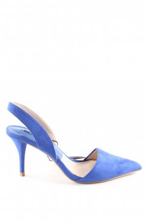 Zara Basic Slingback Pumps blue casual look