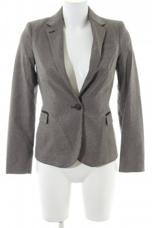 Zara Basic Smoking-Blazer schwarz-wollweiß Karomuster Business-Look