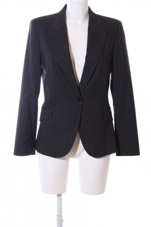 Zara Basic Smoking-Blazer schwarz Streifenmuster Business-Look