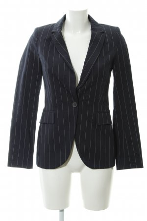Zara Basic Smoking-Blazer dunkelblau-weiß Business-Look