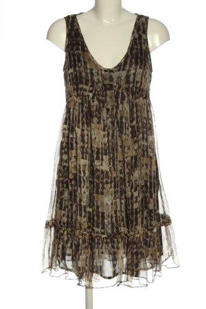Zara Basic Sommerkleid braun Allover-Druck Casual-Look