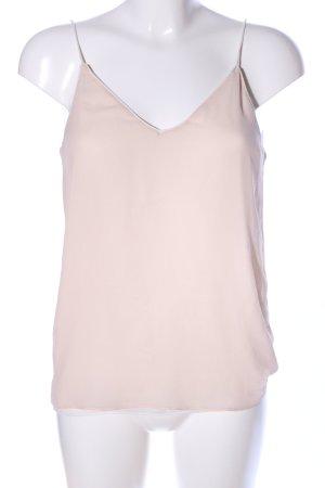 Zara Basic Top de tirantes finos crema look casual