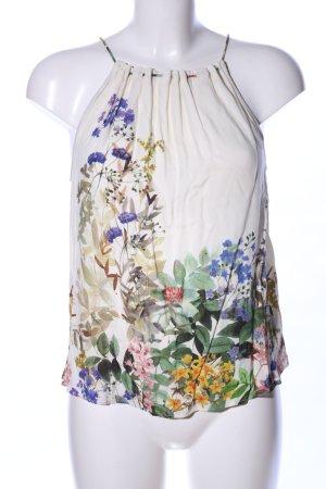 Zara Basic Top con bretelline motivo floreale stile casual