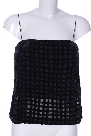 Zara Basic Top de tirantes finos negro look casual