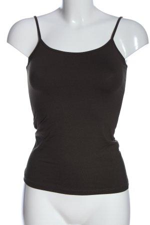 Zara Basic Top de tirantes finos gris claro look casual
