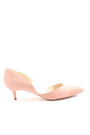 Zara Basic Spitz-Pumps pink Business-Look