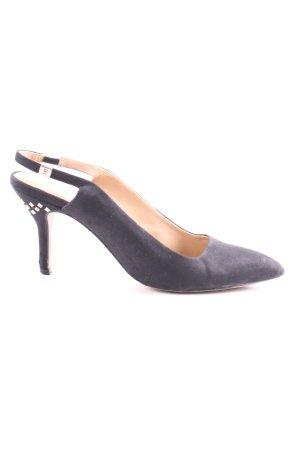 Zara Basic Spitz-Pumps blau Business-Look