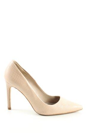 Zara Basic Spitz-Pumps creme Allover-Druck Business-Look