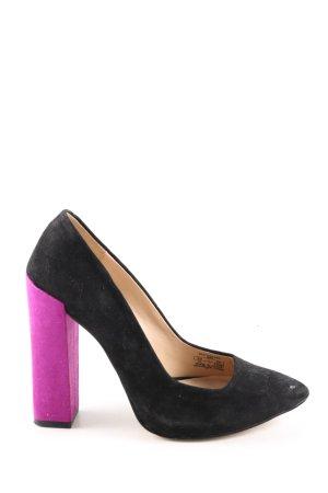 Zara Basic Spitz-Pumps schwarz-pink Elegant
