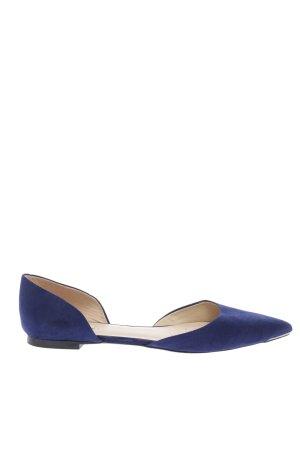 Zara Basic Spitz-Pumps blau Casual-Look