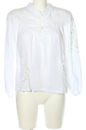 Zara Basic Blouse en dentelle blanc style d'affaires