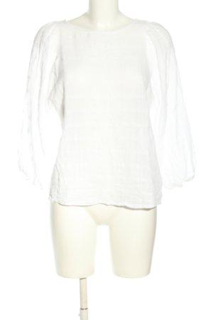 Zara Basic Spitzenbluse weiß Casual-Look