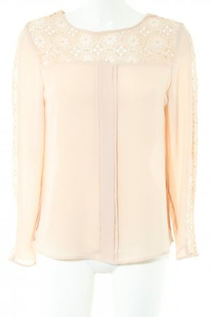 Zara Basic Spitzenbluse creme Business-Look