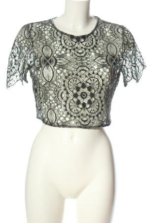 Zara Basic Kanten blouse khaki casual uitstraling