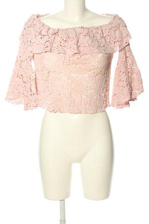 Zara Basic Spitzenbluse creme Elegant