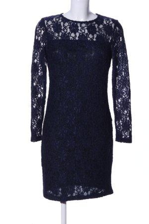 Zara Basic Spitzenkleid blau Elegant