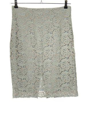 Zara Basic Falda de encaje gris claro look casual