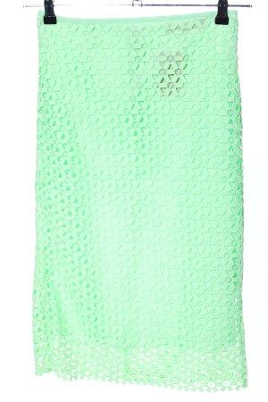 Zara Basic Gonna di pizzo verde stile casual