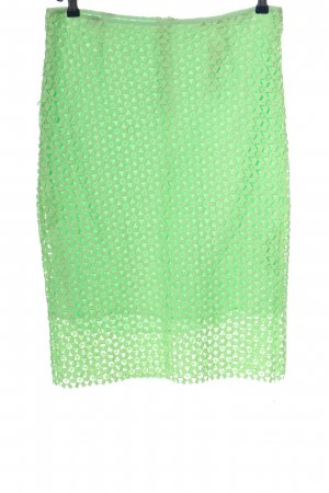 Zara Basic Koronkowa spódnica zielony Siateczkowy wzór W stylu casual