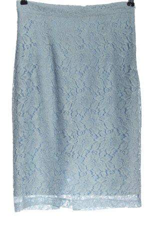 Zara Basic Falda de encaje azul look casual