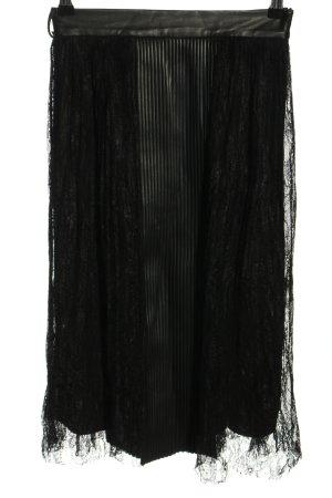 Zara Basic Koronkowa spódnica czarny W stylu casual
