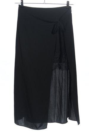 Zara Basic Falda de encaje negro look casual