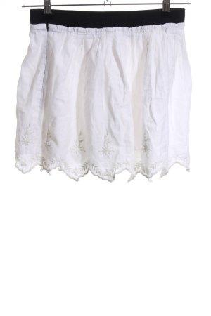 Zara Basic Falda de encaje blanco-negro look casual
