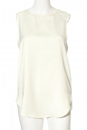 Zara Basic Lace Top white casual look