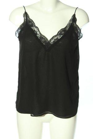 Zara Basic Top di merletto nero stile casual