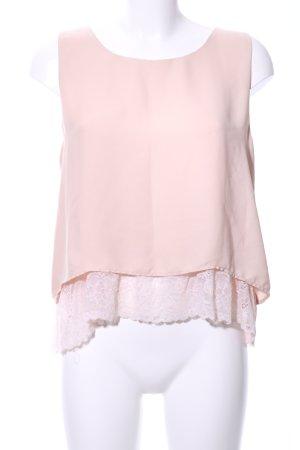 Zara Basic Top di merletto rosa stile casual