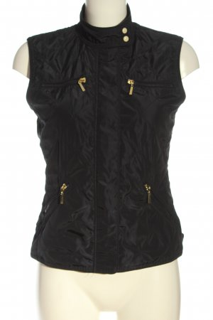 Zara Basic Sports Vests black quilting pattern casual look