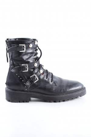 Zara Basic Combat Boots black casual look