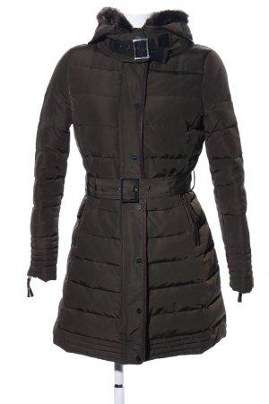 Zara Basic Abrigo acolchado negro estampado acolchado look casual