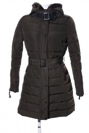 Zara Basic Steppmantel schwarz Steppmuster Casual-Look
